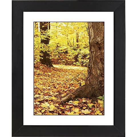 "Autumn Fallen Leaves Black Frame 23 1/4"" High Wall Art"
