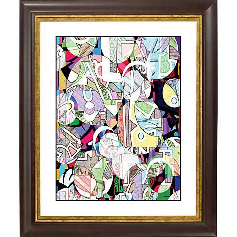 """Number 23 Gold Bronze Frame Giclee 20"""" High Wall Art"""