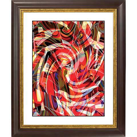 "Untitled I Gold Bronze Frame Giclee 20"" High Wall Art"