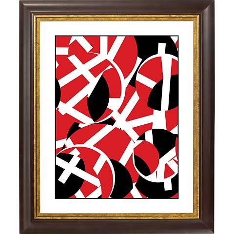 """Movement Gold Bronze Frame Giclee 20"""" High Wall Art"""