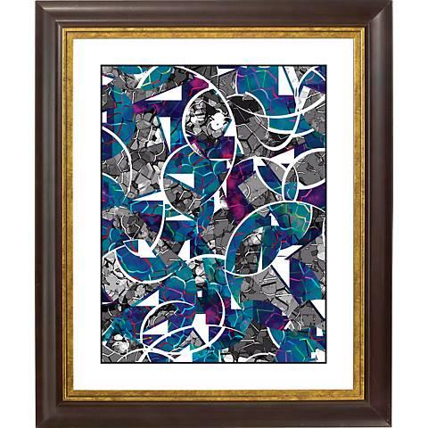 """Abstract Meditation Gold Bronze Frame 20"""" High Wall Art"""