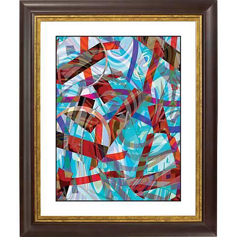 """Chopsticks Gold Bronze Frame Giclee 20"""" High Wall Art"""
