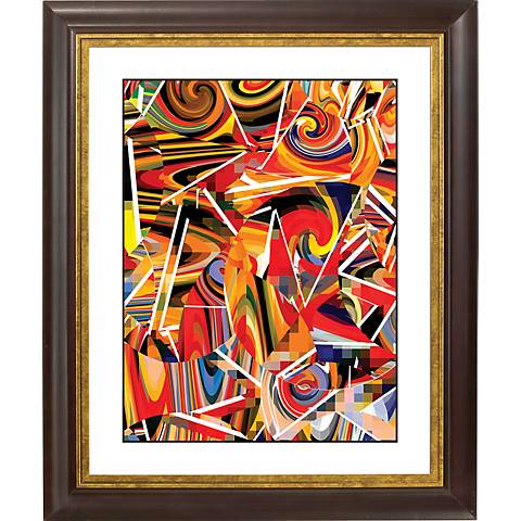 "Swing Time Gold Bronze Frame Giclee 20"" High Wall Art"