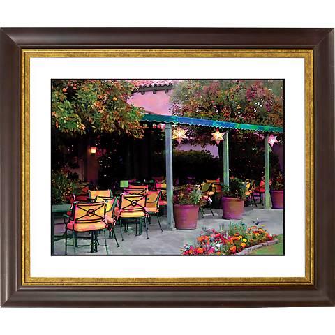 """Garden Gold Bronze Frame Giclee 20"""" Wide Wall Art"""