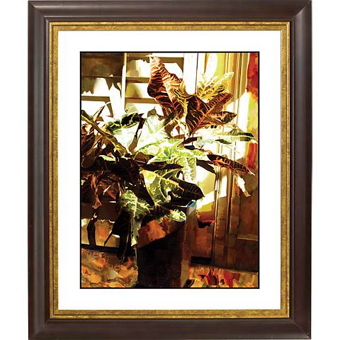 "Bloom I Gold Bronze Frame Giclee 20"" High Wall Art"