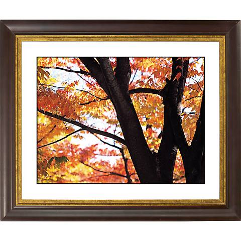 """Autumn Color Gold Bronze Frame Giclee 20"""" Wide Wall Art"""