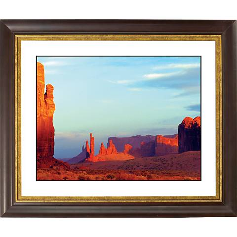 "Red Mesa Gold Bronze Frame Giclee 20"" Wide Wall Art"