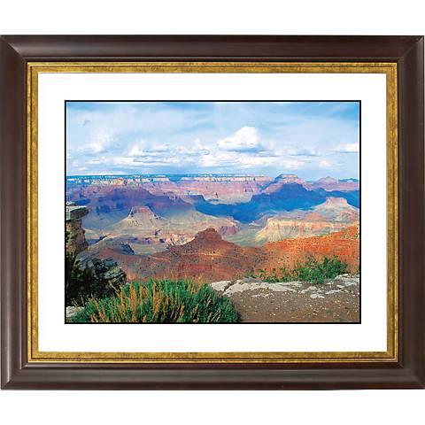 """Desert Vista Gold Bronze Frame Giclee 24 1/2"""" Wide Wall Art"""