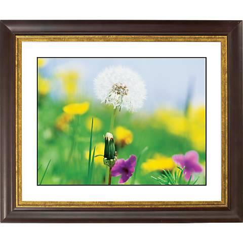 """Summer Meadow Gold Bronze Frame Giclee 20"""" Wide Wall Art"""