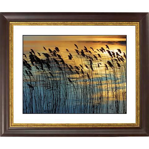 "Wind Gold Bronze Frame Giclee 20"" Wide Wall Art"