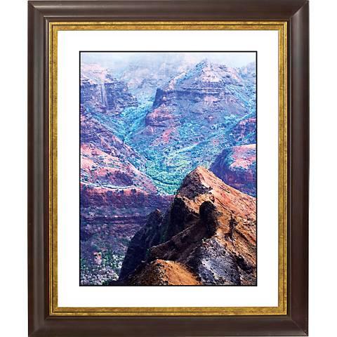 """Canyon Vista Gold Bronze Frame Giclee 20"""" High Wall Art"""