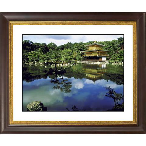 "Mirror Lake Gold Bronze Frame Giclee 20"" Wide Wall Art"