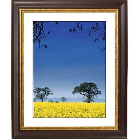 """Field Of Yellow Gold Bronze Frame Giclee 20"""" High Wall Art"""