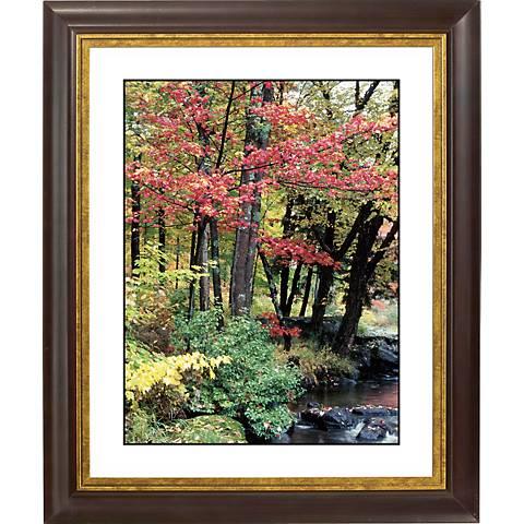 """Autumn View Gold Bronze Frame Giclee 20"""" High Wall Art"""