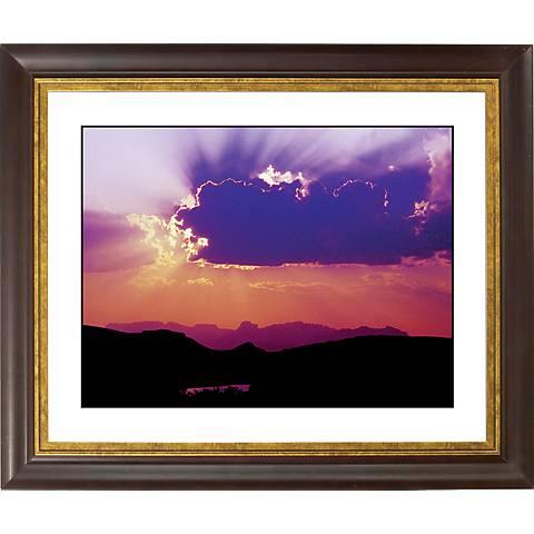 "Canyon Sunrise Gold Bronze Frame Giclee 20"" Wide Wall Art"