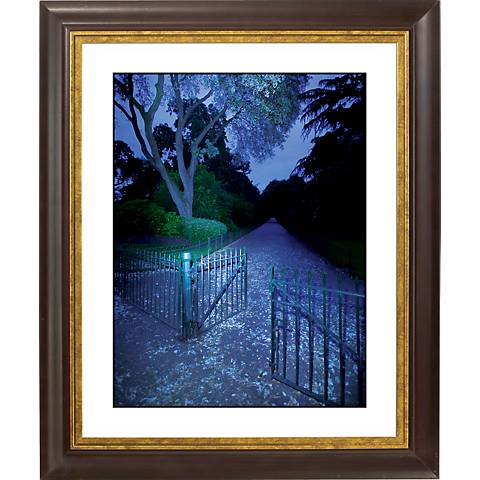 "Blue Gate Gold Bronze Frame Giclee 20"" High Wall Art"
