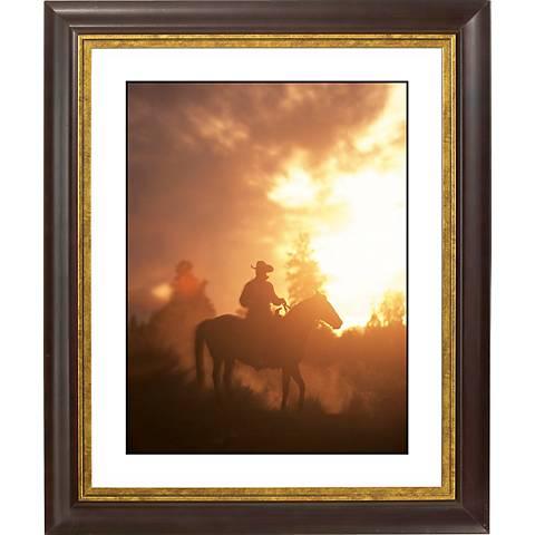 """Sunset Roundup Gold Bronze Frame Giclee 20"""" High Wall Art"""