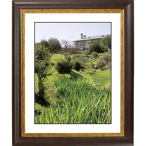 """Green View Gold Bronze Frame Giclee 20"""" High Wall Art"""