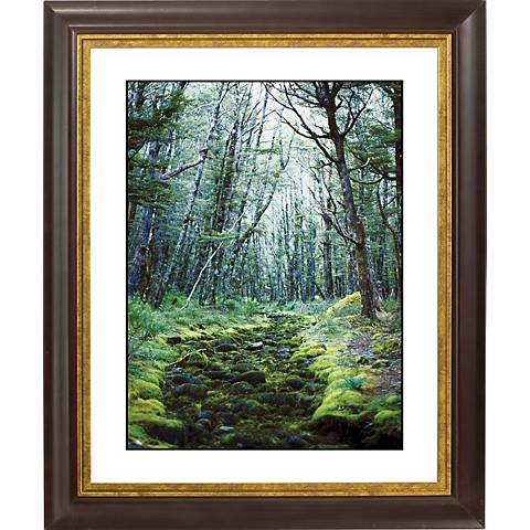 "Forest Clearing Gold Bronze Frame Giclee 20"" High Wall Art"
