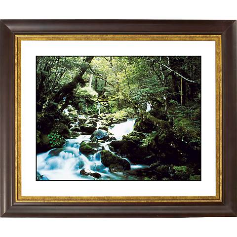 "Forest Brook Gold Bronze Frame Giclee 20"" Wide Wall Art"