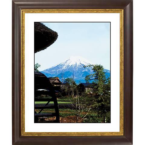 "Mountain Peak Gold Bronze Frame Giclee 20"" High Wall Art"
