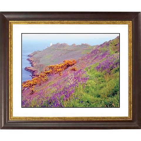 "Cliff Flowers Gold Bronze Frame Giclee 20"" Wide Wall Art"
