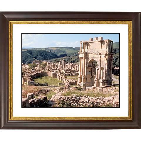 "Stonework Abby Gold Bronze Frame Giclee 20"" Wide Wall Art"