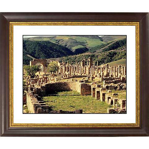 "Abby Ruins Gold Bronze Frame Giclee 20"" Wide Wall Art"