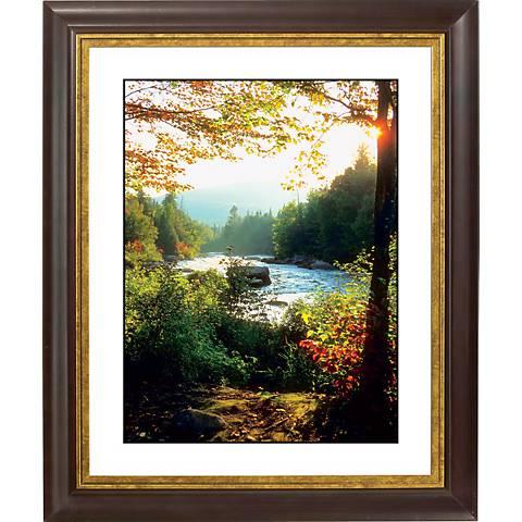"""Indian Summer Day Gold Bronze Frame Giclee 20"""" High Wall Art"""