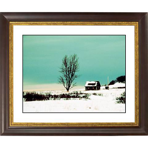 "After The Snow Gold Bronze Frame Giclee 20"" Wide Wall Art"