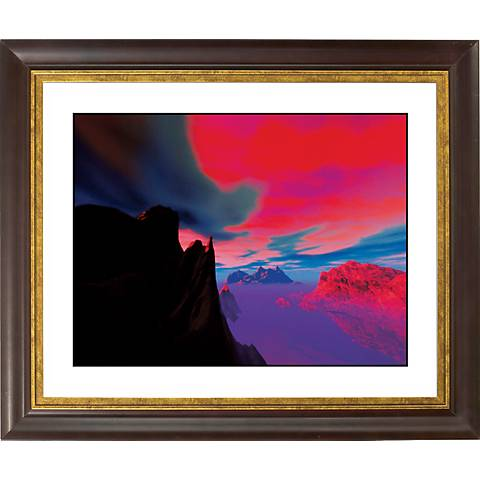"Magic Sunset Gold Bronze Frame Giclee 20"" Wide Wall Art"