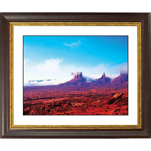 "Arizona Painted Desert Gold Bronze Frame 20"" Wide Wall Art"
