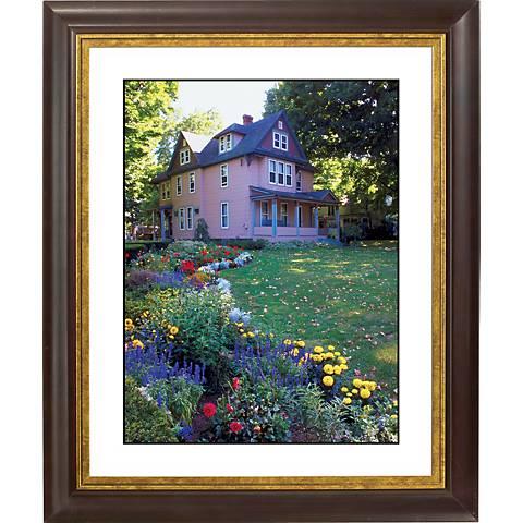 "Colorful Garden Gold Bronze Frame Giclee 20"" High Wall Art"