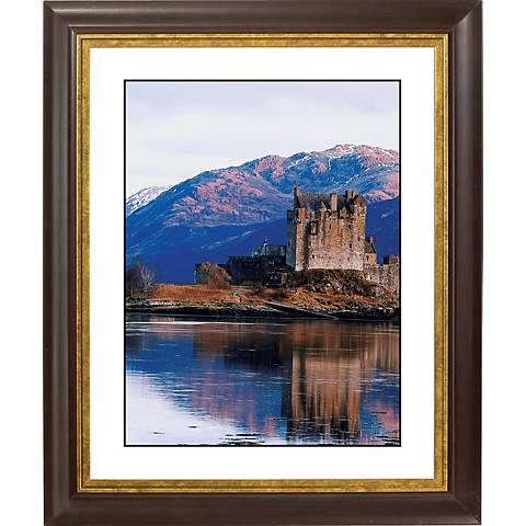 "Castle Reflections Gold Bronze Frame 20"" High Wall Art"