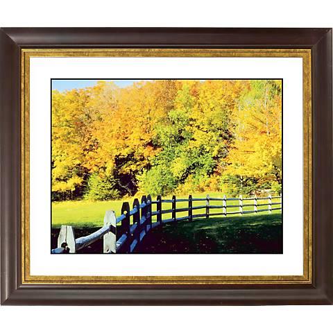 """Golden Autumn Gold Bronze Frame Giclee 20"""" Wide Wall Art"""