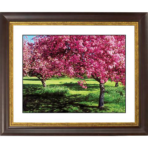 "Spring Trees Gold Bronze Frame Giclee 20"" Wide Wall Art"