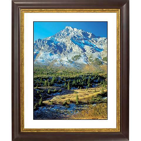 """Mountain Foothills Gold Bronze Frame 20"""" High Wall Art"""