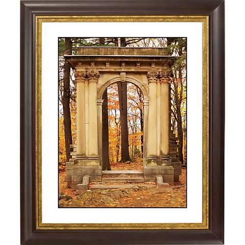 "Gothic Arch In Autumn Gold Bronze Frame 20"" High Wall Art"