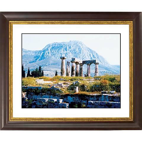 "Temple Ruins Gold Bronze Frame Giclee 20"" Wide Wall Art"