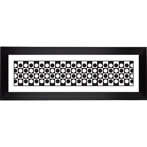 """Blk/White Dotted Squares Stepped Strip 52 1/8"""" Wide Wall Art"""