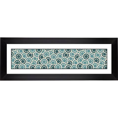 "Blue/Green Circlets Stepped Strip 52 1/8"" Wide Wall Art"