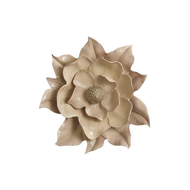Magnolia Ivory Ceramic Wall Flower
