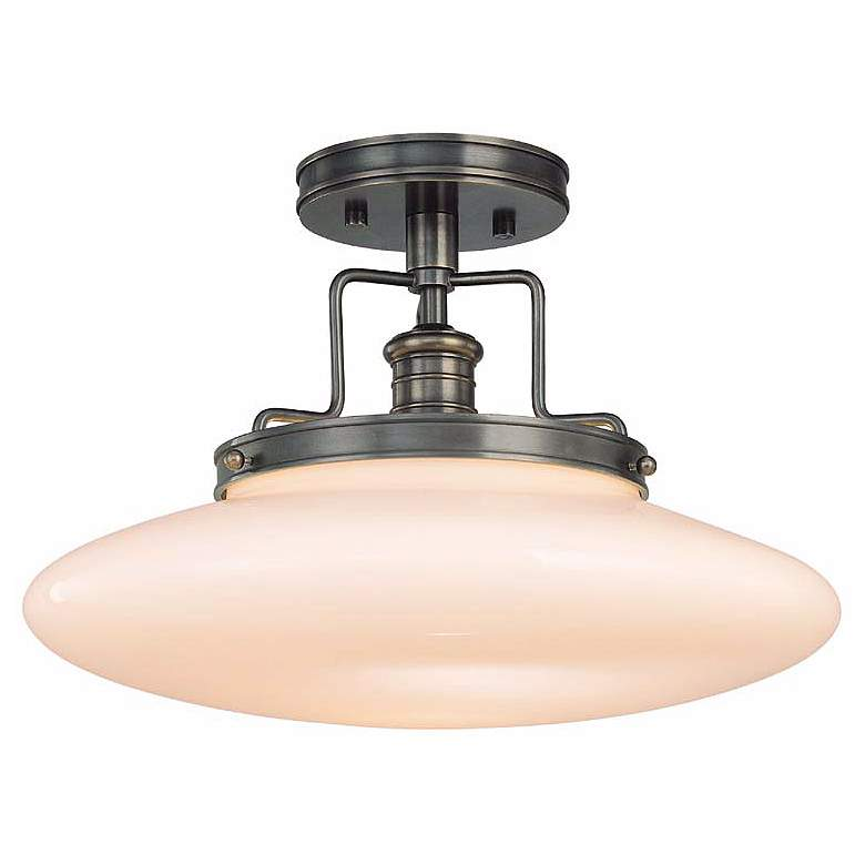 """Beacon Old Bronze 15"""" Wide Ceiling Light"""