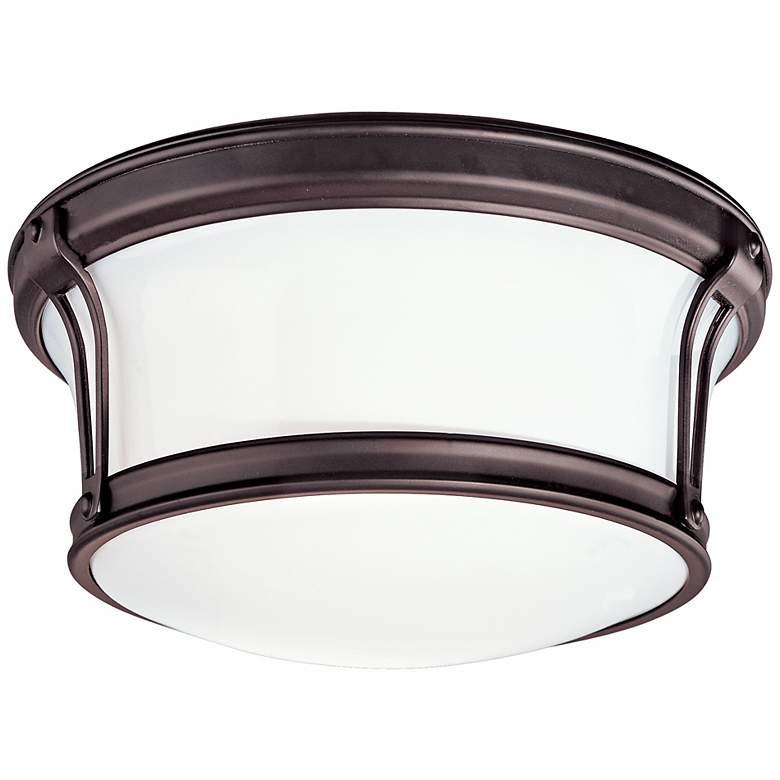 "Newport 10"" Wide Bronze Ceiling Light"