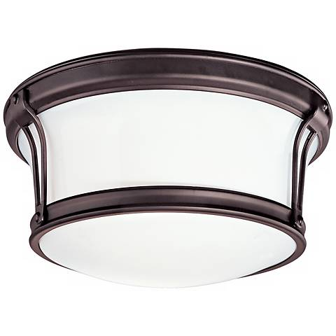 "Newport 10"" Wide Bronze Ceiling Light"