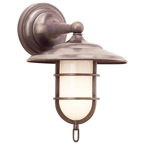 "Rockford Wet Location 12 1/2"" High Old Bronze Wall Sconce"