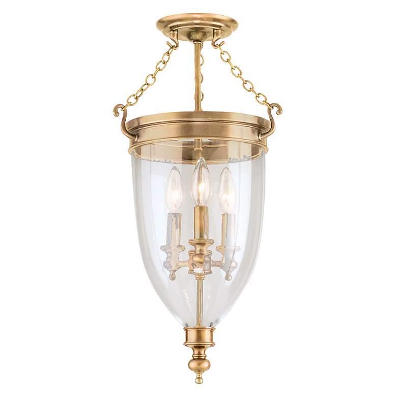 Hudson Valley Hanover Aged Brass Ceiling Light