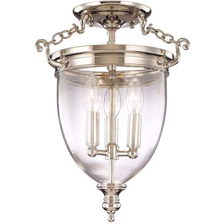 Hudson Valley Hanover Polished Nickel Ceiling Light