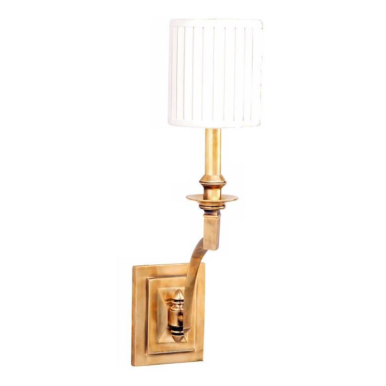 """Mercer Single Light 19"""" High Aged Brass Wall Sconce - # ... on Aged Brass Wall Sconce id=72902"""