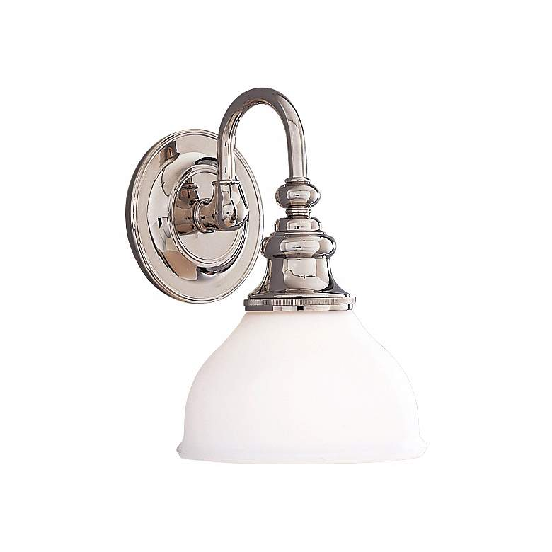 """Sutton 10 1/4"""" High  Polished Nickel Wall Sconce"""